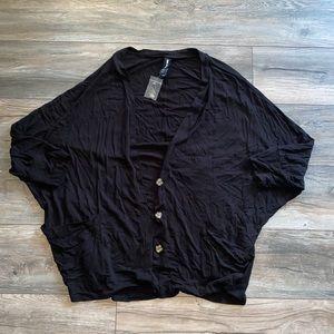 NWT Spandex light black cardigan